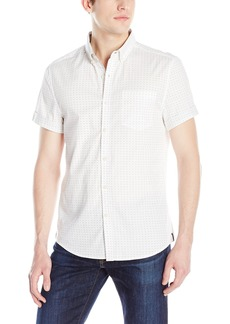 Kenneth Cole New York Men's Short Sleeve Slim Button Down Collar Print Shirt  XX-Large