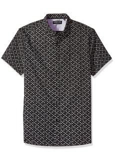Kenneth Cole New York Men's Short Sleeve Starry Print