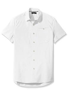 Kenneth Cole New York Men's Short Sleeve Stretch Ripstop Shirt