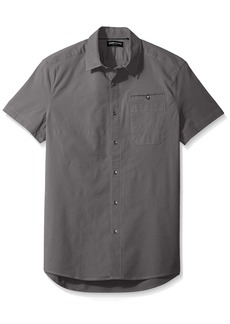 Kenneth Cole New York Men's Short Sleeve Stretch Ripstop Shirt