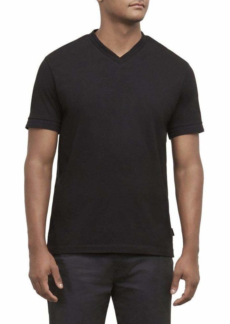 Kenneth Cole New York Men's Short Sleeve V-Neck Shirt
