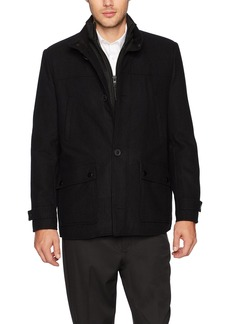 Kenneth Cole New York Men's Single Breasted Wool Jacket