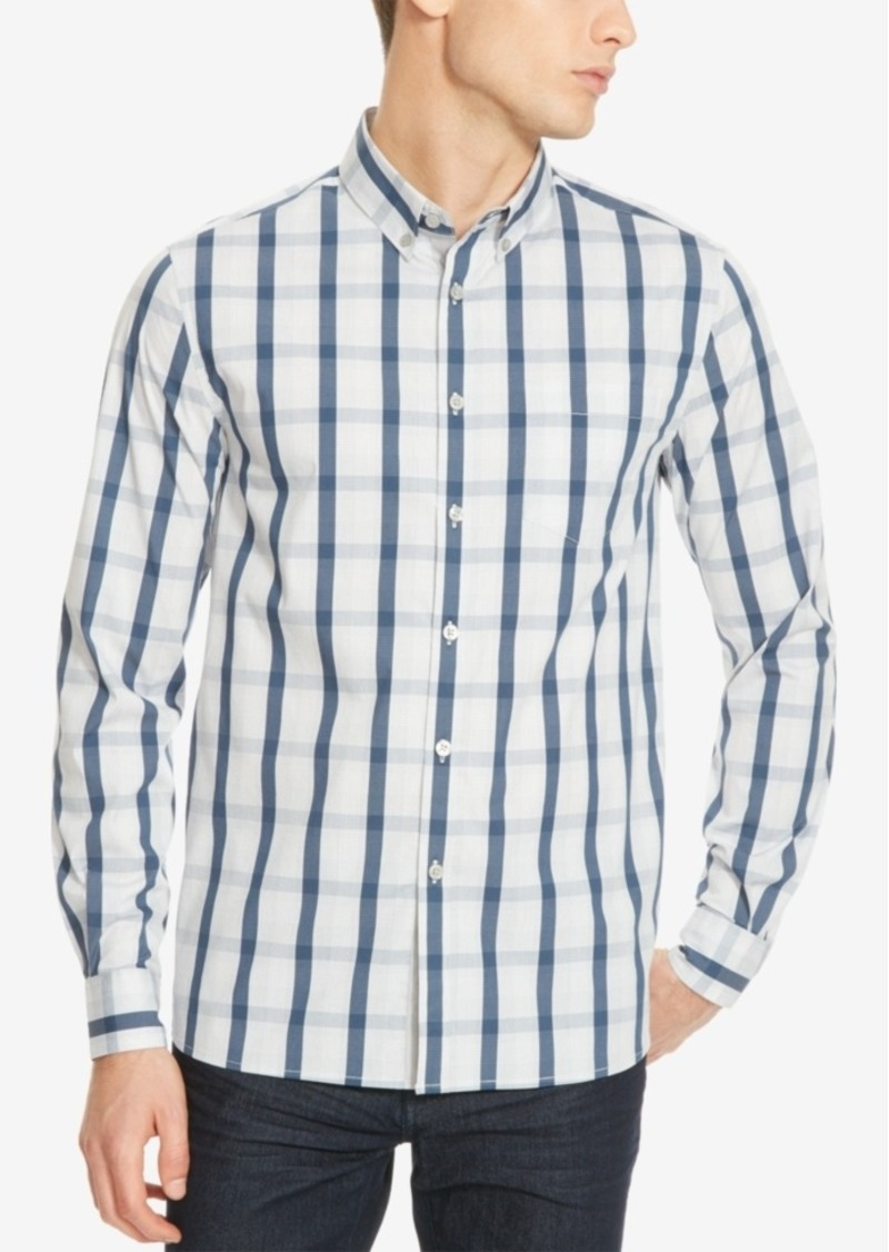 Kenneth Cole New York Men's Slim-Fit Checked Long-Sleeve Shirt