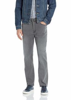Kenneth Cole New York Men's Slim Fit Five Pocket Jean Grey wash 34x32