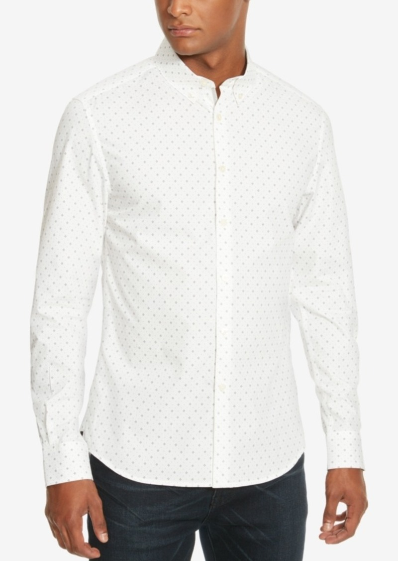 Kenneth Cole New York Men's Slim-Fit Geometric Long-Sleeve Shirt