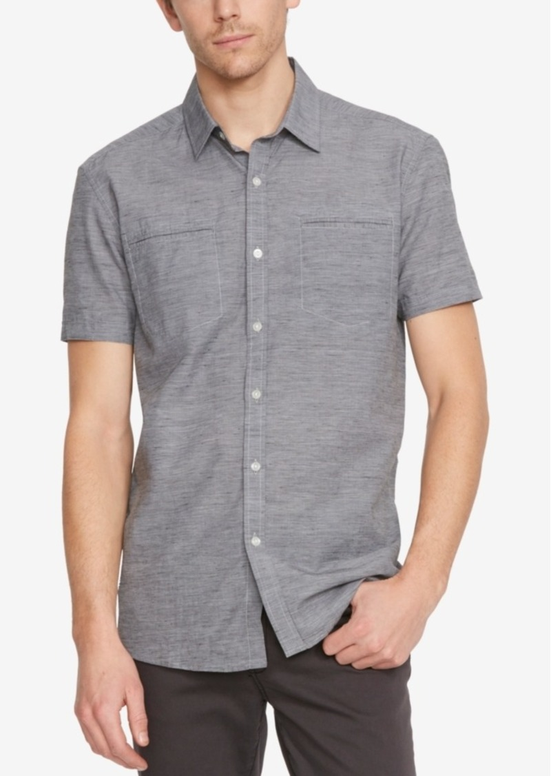 Kenneth Cole New York Men's Slub Short-Sleeve Shirt