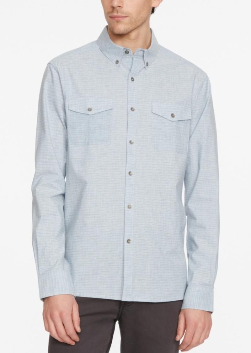 Kenneth Cole New York Men's Space-Dye Long-Sleeve Shirt