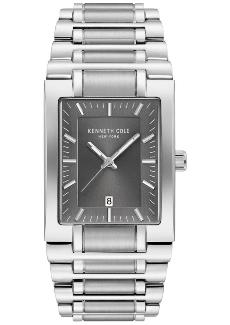 Kenneth Cole New York Men's Stainless Steel Tank Bracelet Watch 40mm