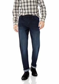 Kenneth Cole New York Men's Straight Fit Five Pocket Jean Dark Indigo wash 32x32