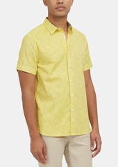 Kenneth Cole New York Men's Stretch Banana Leaf-Print Shirt