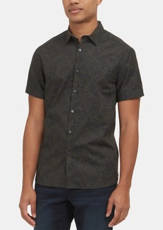Kenneth Cole New York Men's Stretch Banana Leaf-Print Shirt