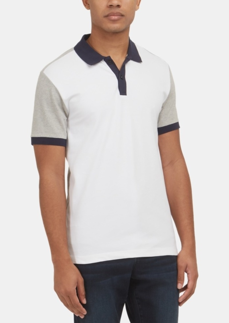 Kenneth Cole New York Men's Stretch Colorblocked Polo