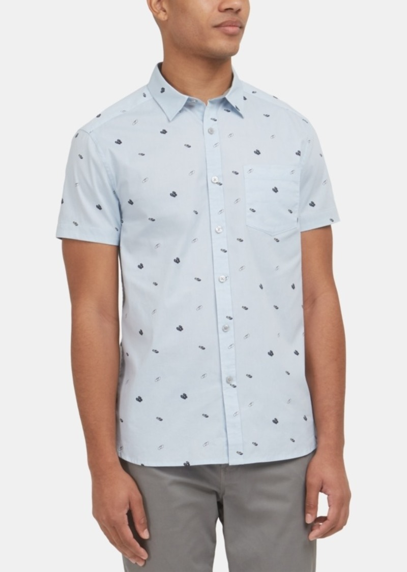 Kenneth Cole New York Men's Stretch Flip Flop-Print Shirt