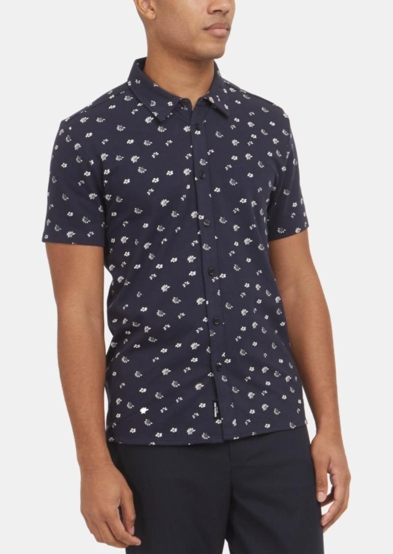 Kenneth Cole New York Men's Stretch Floral-Print Shirt
