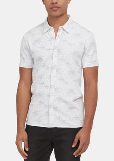 Kenneth Cole New York Men's Stretch Galaxy-Print Shirt