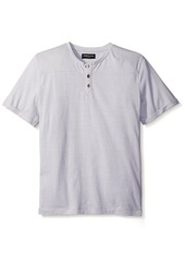 Kenneth Cole New York Men's Striped Henley  L