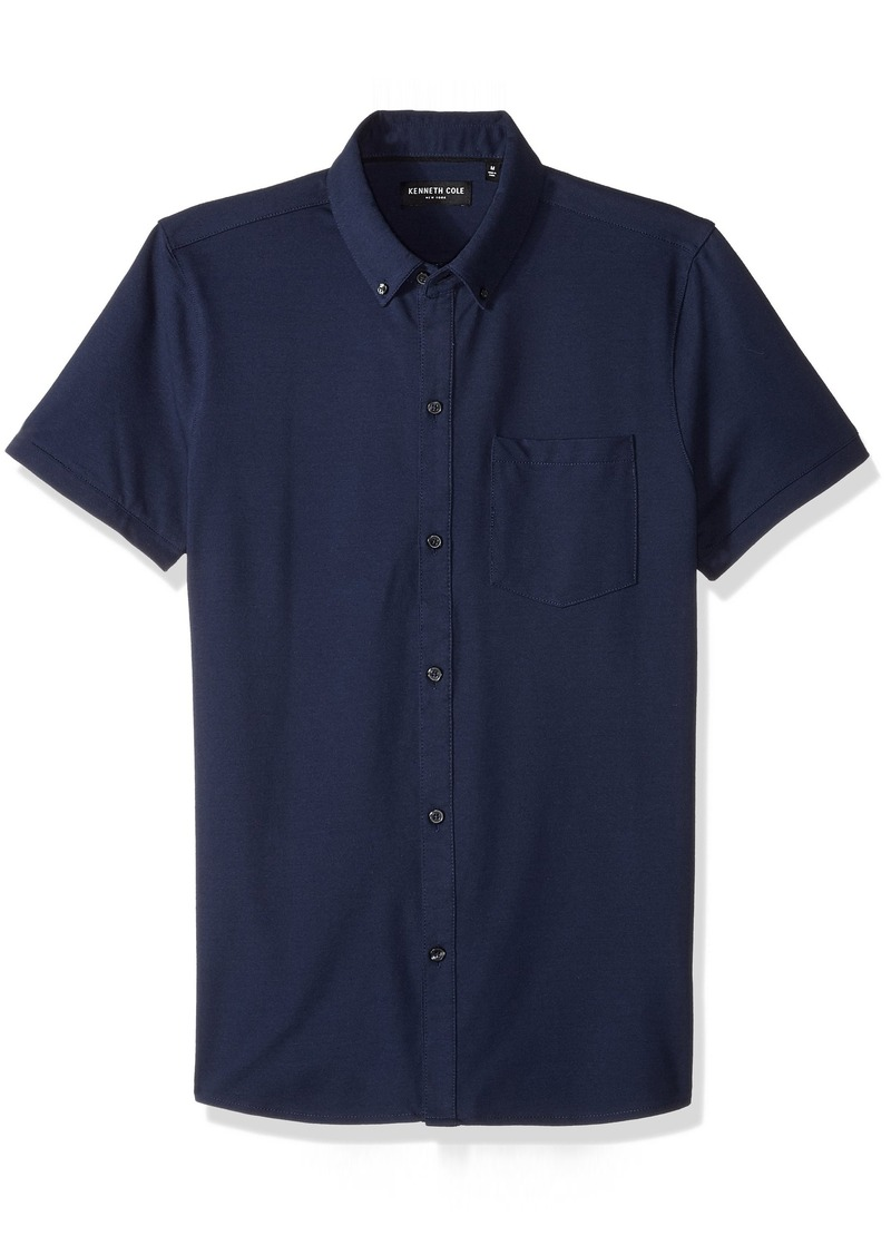 Kenneth Cole New York Button Front Polo