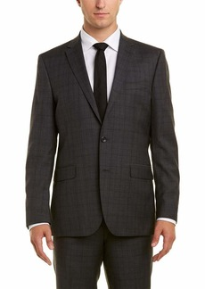 """Kenneth Cole New York Men's Travel Ready Wool 32"""" Finished Bottom Hem Suit"""