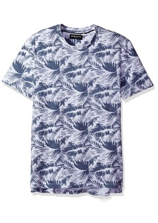 Kenneth Cole New York Men's Tropical Leaf Print Crew