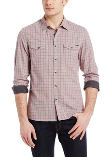 Kenneth Cole New York Men's Two Pocket Plaid Shirt