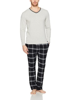 Kenneth Cole New York Men's V-Neck and Flannel Set  L