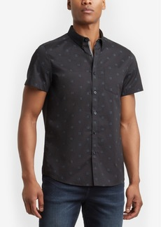 Kenneth Cole New York Men's Windowbox-Print Pocket Shirt