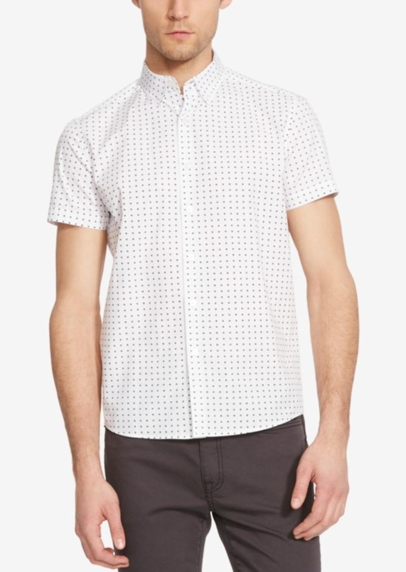 Kenneth Cole New York Men's X-Print Short-Sleeve Shirt