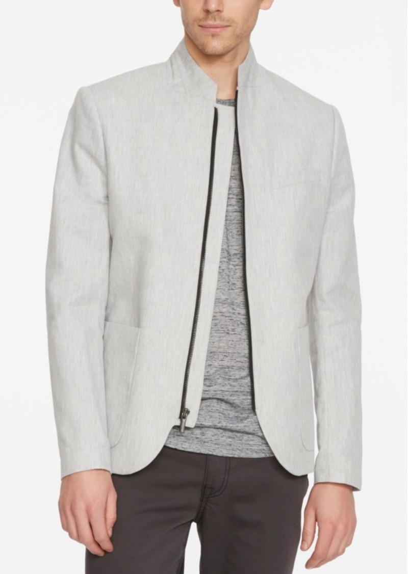 Kenneth Cole New York Men's Zip-Front Patch Pocket Jacket