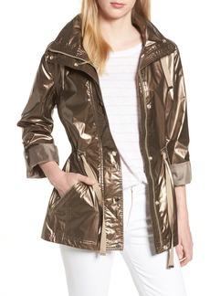 Kenneth Cole New York Metallic Hooded Jacket
