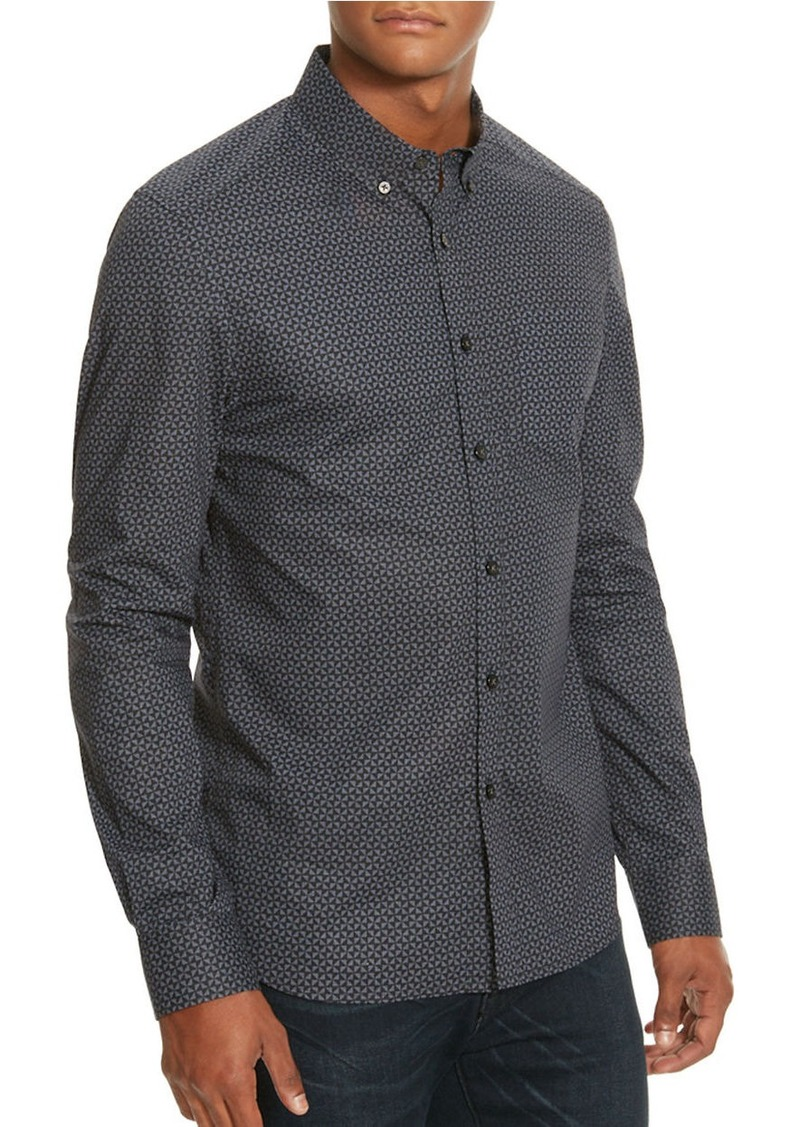 KENNETH COLE NEW YORK Mirrored Tri Print Woven Shirt