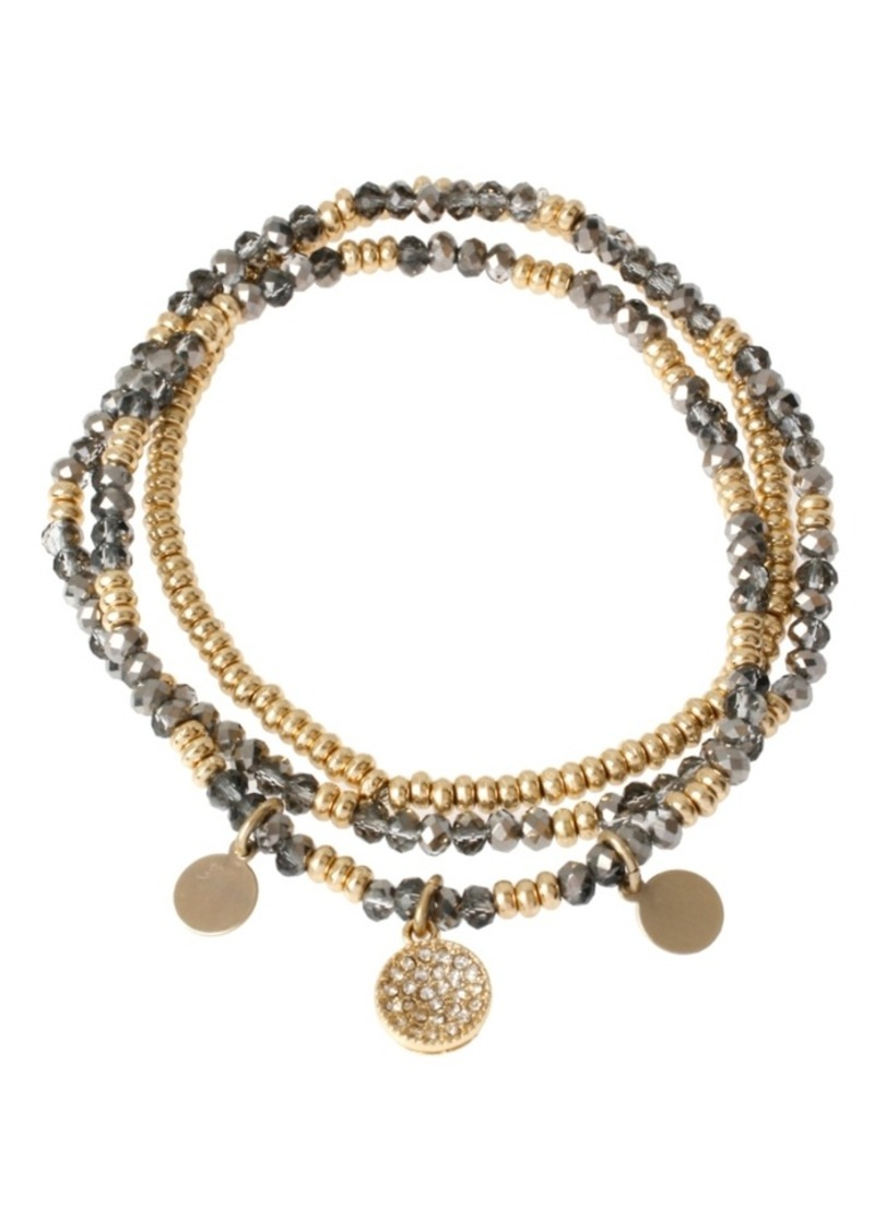 Kenneth Cole New York Mixed Faceted Bead Stretch Bracelet Set