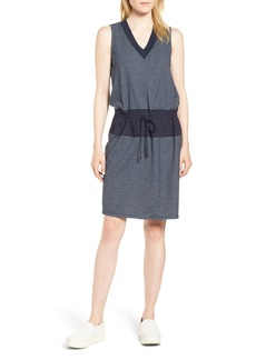 Kenneth Cole New York Mixed Media Drawstring Dress