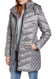 Kenneth Cole New York Mixed Quilting Puffer Jacket
