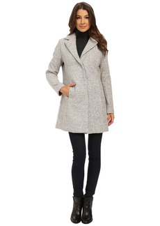 Kenneth Cole New York Novelty Tweed Wool Coat