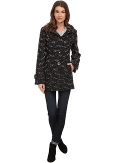 Kenneth Cole Novelty Wool Babydoll Coat
