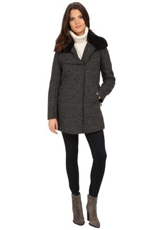 Kenneth Cole New York Novelty Wool with Faux Fur Collar