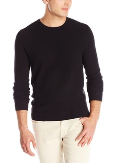 Kenneth Cole New York ong-Sleeve Pique Crewneck