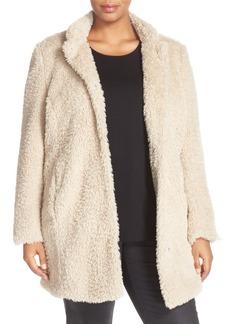 Kenneth Cole New York 'Original Teddy' Faux Fur Coat (Plus Size)