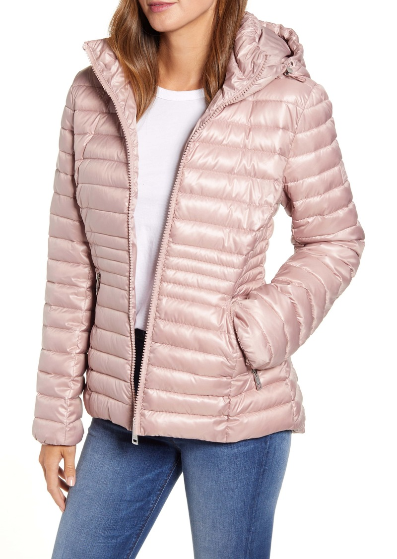 Kenneth Cole New York Packable Hooded Puffer Jacket