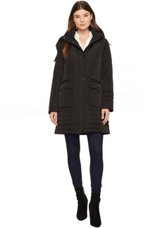 Kenneth Cole Parka w/ Faux Fur Trim