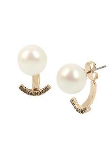 Kenneth Cole New York Pearl, Diamond and Crystal Stud Earrings