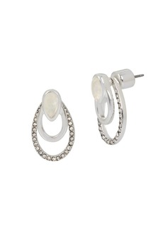 Kenneth Cole New York Power of the Flower Crystal and Mother-Of-Pearl Front Back Earrings