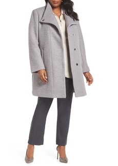 Kenneth Cole New York Pressed Bouclé Coat (Plus Size)