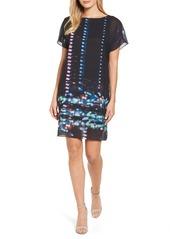 Kenneth Cole New York Print Chiffon Shift Dress