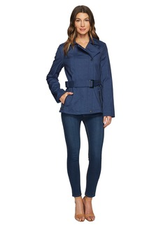 Kenneth Cole New York Printed Asymmetrical Zip Front Softshell Jacket