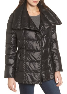 Kenneth Cole New York Quilted Envelope Collar Coat