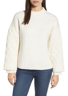 Kenneth Cole New York Quilted Sleeve Sweater