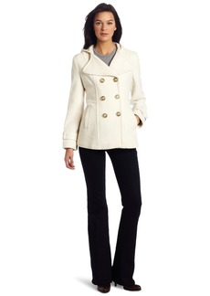 Kenneth Cole New York Reaction Women's Double Breasted Hooded Pea Coat