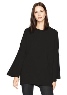Kenneth Cole Women's Rib Detail Sweatshirt