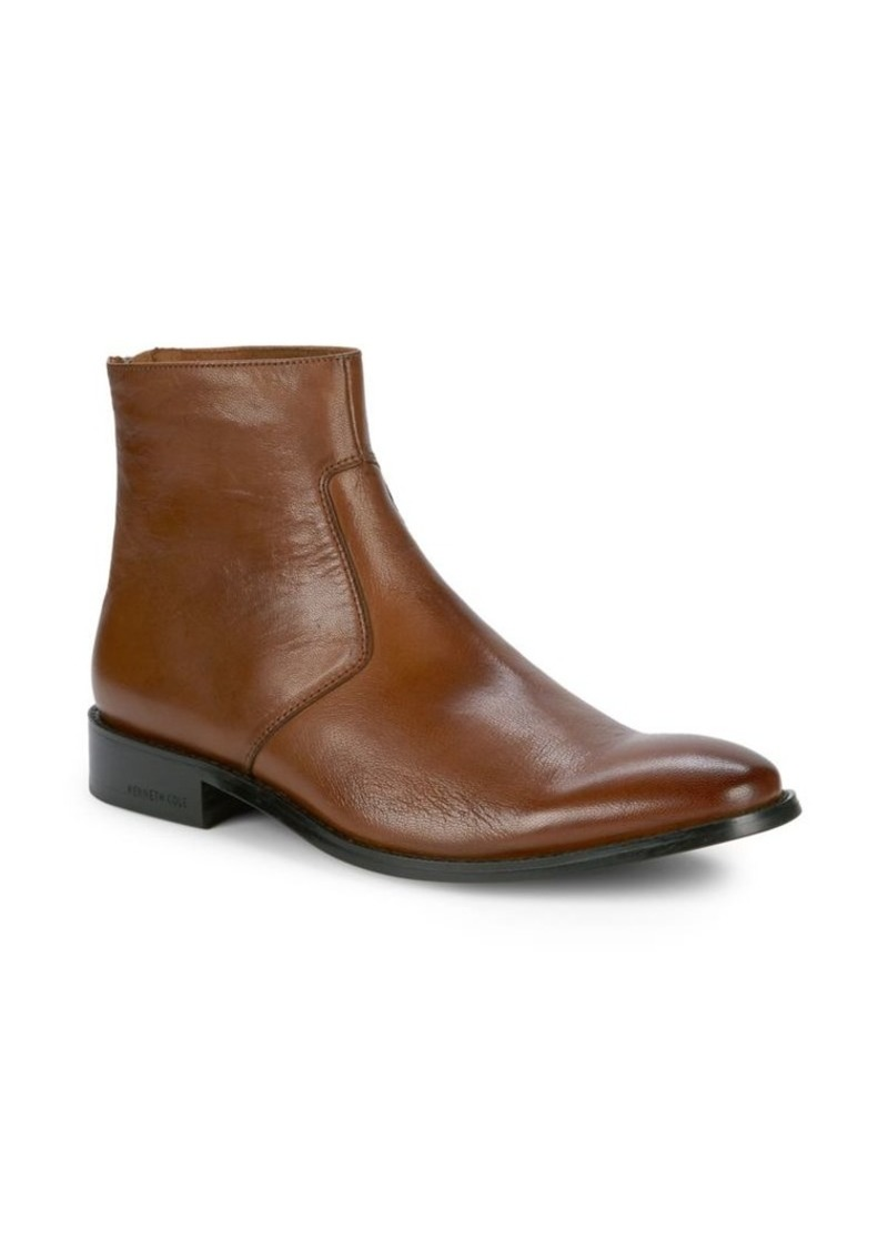 Kenneth Cole New York Roy Back-Zip Leather Boots
